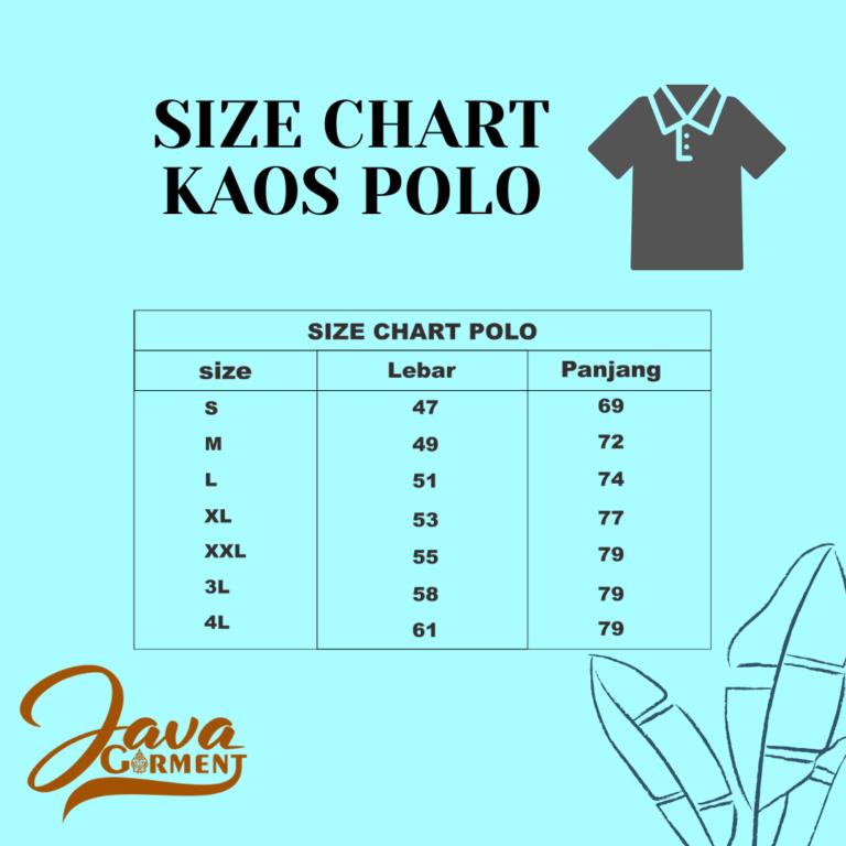 Size Chart Polo Java